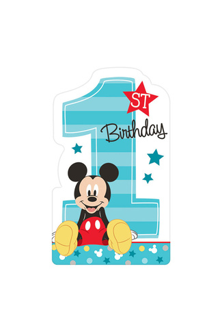 MICKEY MOUSE FUN TO BE ONE INVITATIONS 8pk
