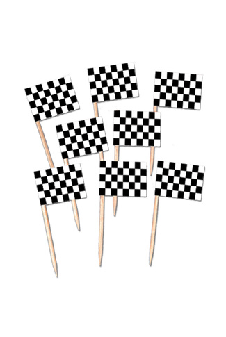 CHECKERED FLAG PICKS X 50