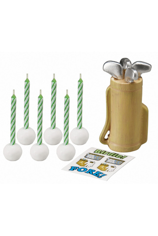 GOLF CADDY CANDLE SET by WILTON