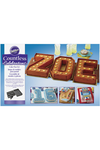 NUMBERS & LETTERS CAKE TIN SET by WILTON