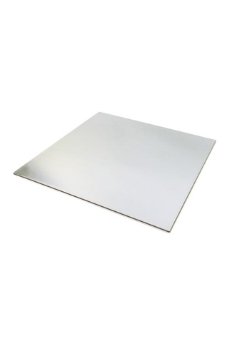 "8"" SQUARE SILVER CAKE BOARD - CARDBOARD - 200mm"