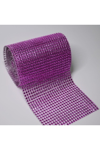 PURPLE MESH RIBBON x 1m