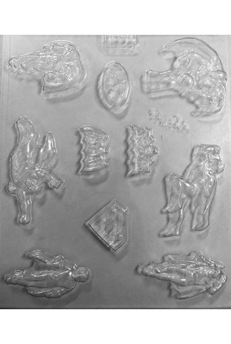 SUPER HEROES CHOCOLATE MOULD