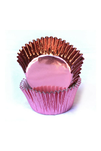 #550 PINK FOIL CUPCAKE CASES