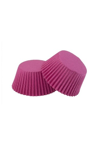 #550 DEEP PINK PAPER CUPCAKE CASES approx 20