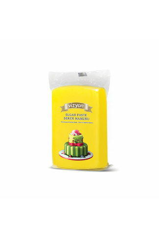 YELLOW FONDANT 1kg by VIZYON