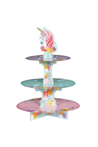 MAGICAL UNICORN CUPCAKE STAND 3 TIER