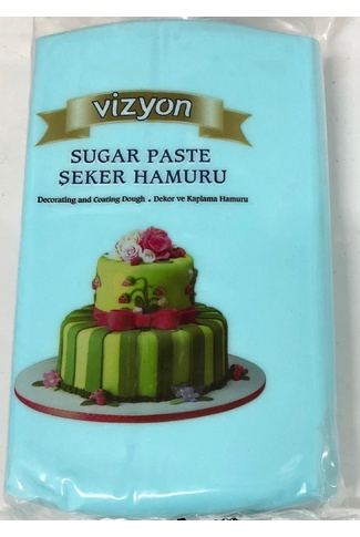 LIGHT BLUE VIZYON 1KG FONDANT