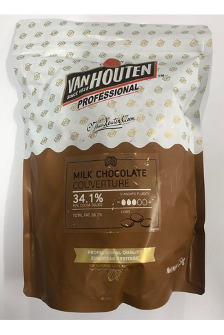 COUVERTURE MILK CHOCOLATE 1.5kg 34.1% cocoa solids