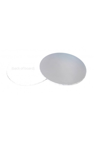"9"" ROUND SILVER CAKE BOARD MASONITE 5mm"