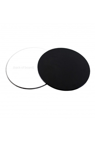 "10"" BLACK ROUND CAKE BOARD MASONITE 5mm THICK"