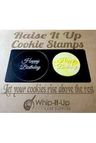 HAPPY BIRTHDAY SCRIPT- RAISE IT UP COOKIE STAMPS
