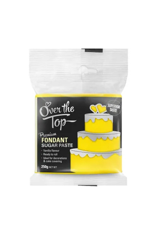 SUN YELLOW FONDANT 250g by OVER THE TOP