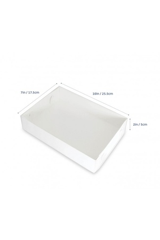 COOKIE BOX 25.5cm  x 17.5cm - CLEAR LID