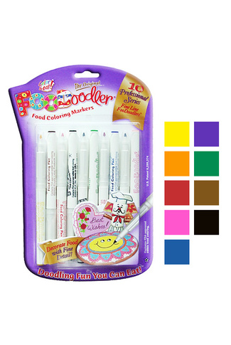 FOODOODLER FINE EDIBLE MARKERS X 10 pack