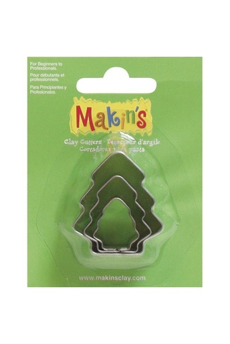 MAKINS CHRISTMAS TREE CUTTERS SET of 3