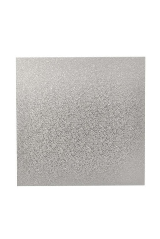 "11"" SQUARE SILVER CAKE BOARD 4mm WB"